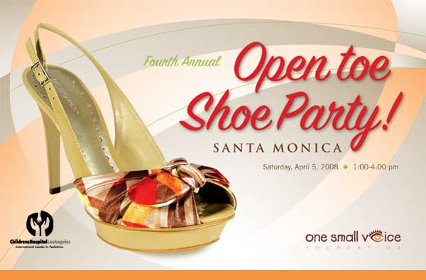 Fourth Annual Open Toe Shoe Party! Santa Monica, CA; April 5, 2008